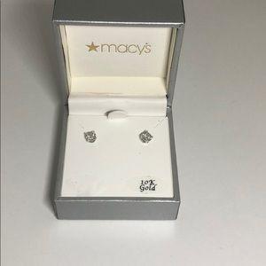 10k gold Macy's earrings